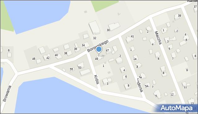 Harmęże, Borowskiego, 51, mapa Harmęże