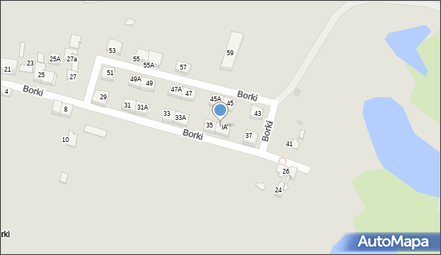 Katowice, Borki, 35A, mapa Katowic