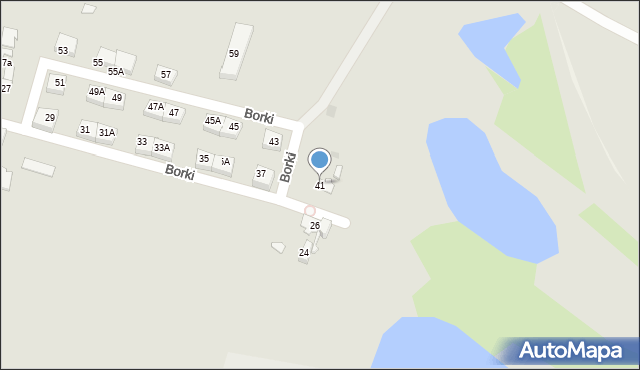 Katowice, Borki, 41, mapa Katowic