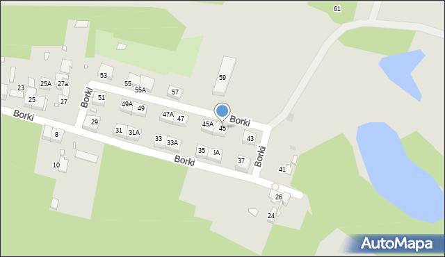 Katowice, Borki, 45, mapa Katowic