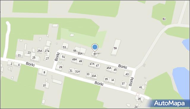 Katowice, Borki, 57, mapa Katowic
