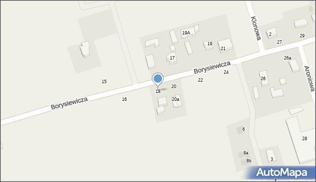 Kochanowo, Borysiewicza, ks., 18, mapa Kochanowo