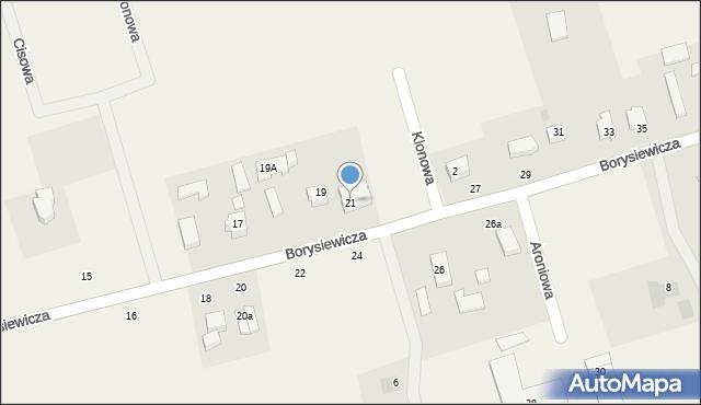 Kochanowo, Borysiewicza, ks., 21, mapa Kochanowo