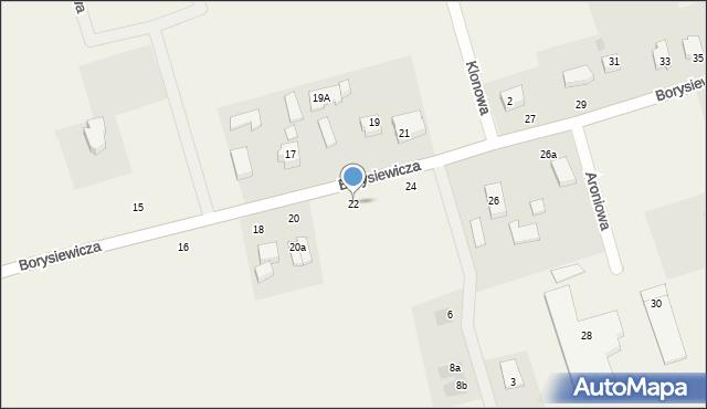 Kochanowo, Borysiewicza, ks., 22, mapa Kochanowo