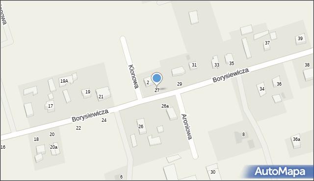 Kochanowo, Borysiewicza, ks., 27, mapa Kochanowo