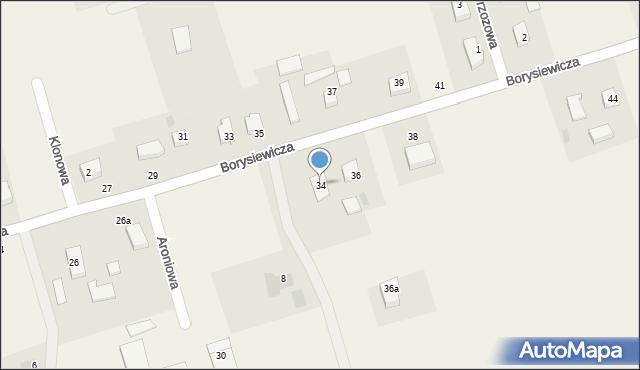 Kochanowo, Borysiewicza, ks., 34, mapa Kochanowo