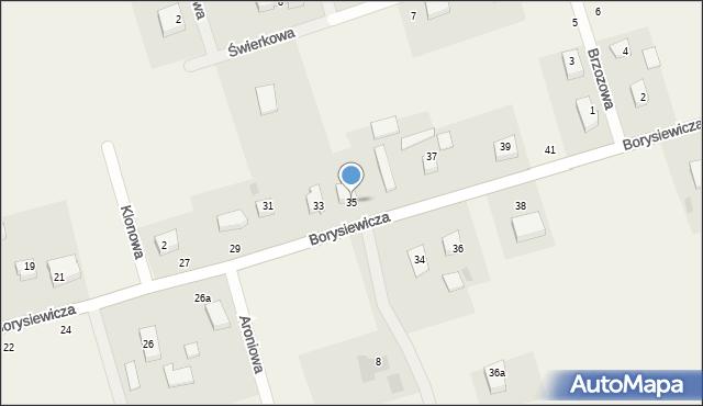Kochanowo, Borysiewicza, ks., 35, mapa Kochanowo