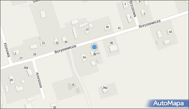 Kochanowo, Borysiewicza, ks., 36, mapa Kochanowo