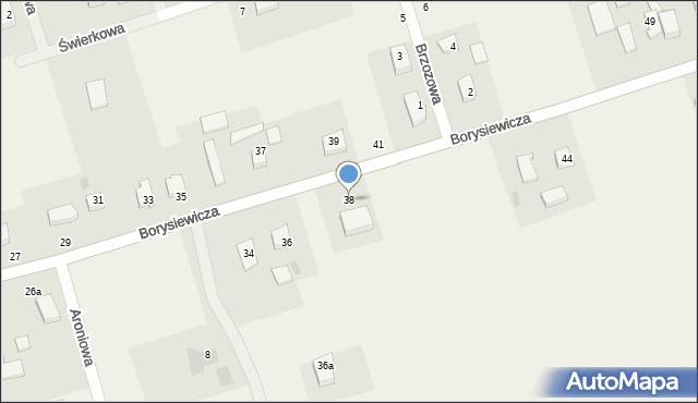Kochanowo, Borysiewicza, ks., 38, mapa Kochanowo