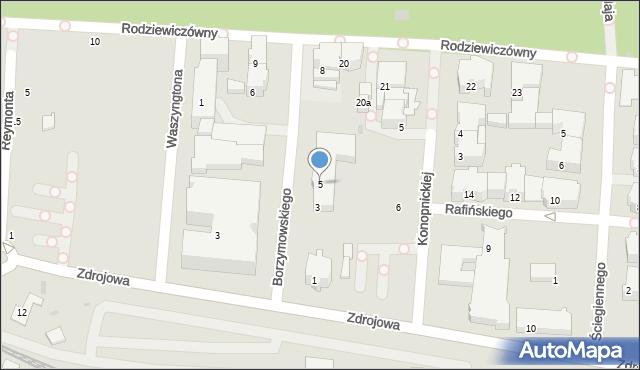 Kołobrzeg, Borzymowskiego Marcina, 5, mapa Kołobrzegu