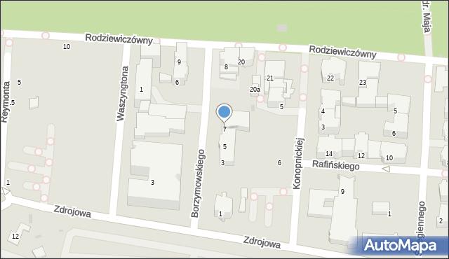 Kołobrzeg, Borzymowskiego Marcina, 7, mapa Kołobrzegu