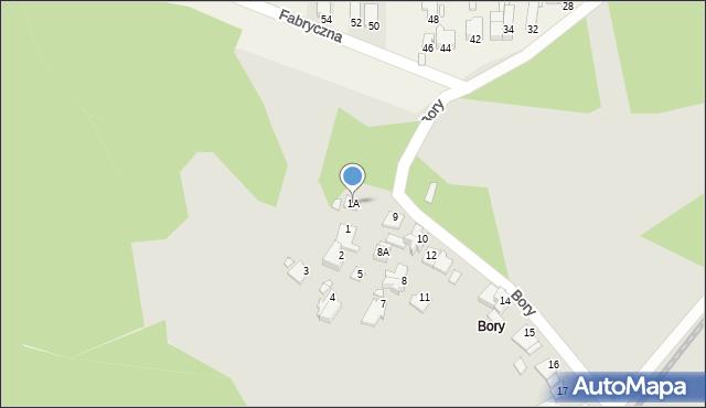 Łazy, Bory, 1A, mapa Łazy