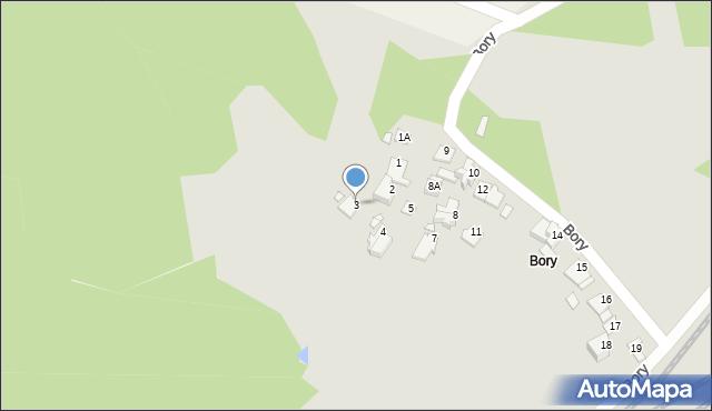 Łazy, Bory, 3, mapa Łazy