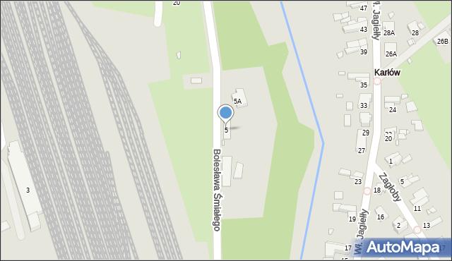Nysa, Bolesława Śmiałego, 5, mapa Nysy