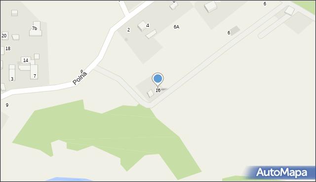 Potępa, Borówkowa, 16, mapa Potępa