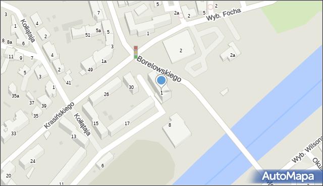 Przemyśl, Borelowskiego Marcina, płk., 1, mapa Przemyśla