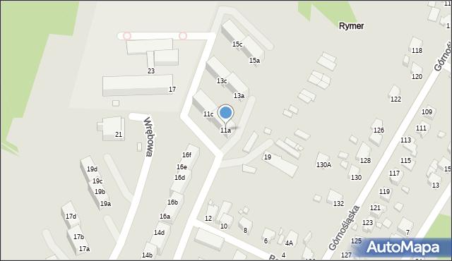 Rybnik, Boczna, 11a, mapa Rybnika