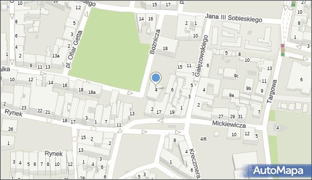 Rzeszów, Bożnicza, 4, mapa Rzeszów