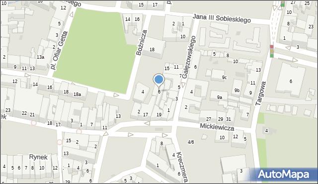 Rzeszów, Bożnicza, 6, mapa Rzeszów