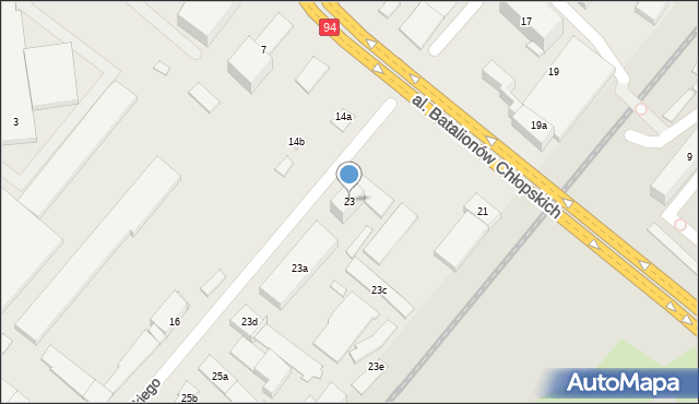 Rzeszów, Boya-Żeleńskiego Tadeusza, 23, mapa Rzeszów