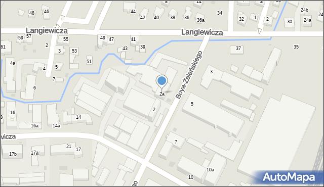 Rzeszów, Boya-Żeleńskiego Tadeusza, 2a, mapa Rzeszów