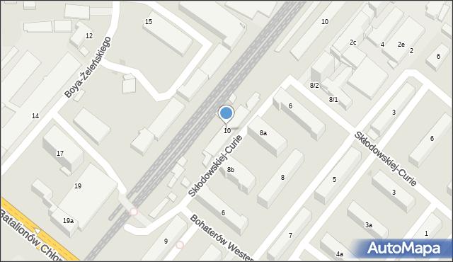 Rzeszów, Bohaterów Westerplatte, 10, mapa Rzeszów