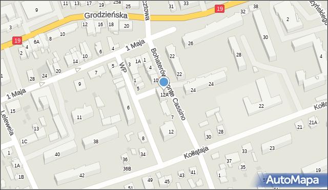 Sokółka, Bohaterów Monte Cassino, 12A, mapa Sokółka