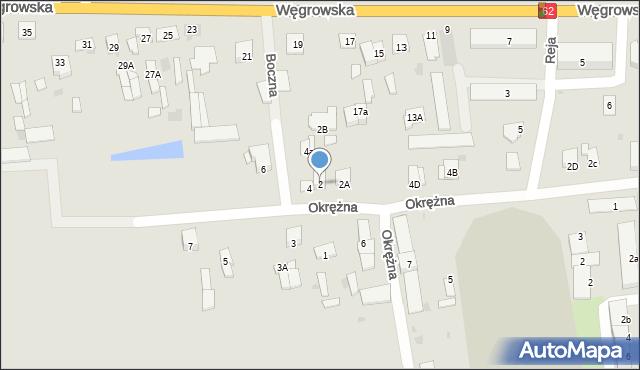 Sokołów Podlaski, Boczna, 2, mapa Sokołów Podlaski