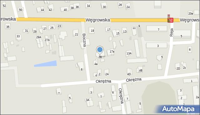 Sokołów Podlaski, Boczna, 2B, mapa Sokołów Podlaski