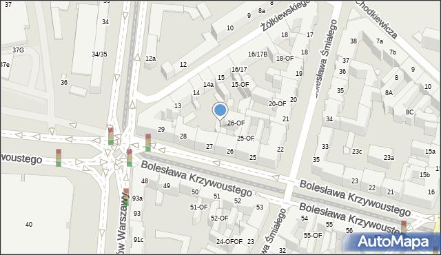 Szczecin, Bolesława Krzywoustego, 27-OF, mapa Szczecina