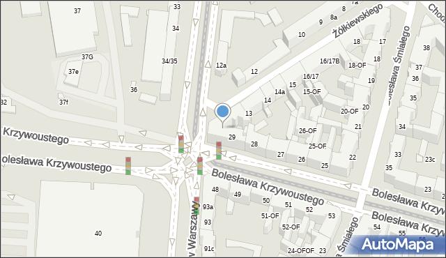 Szczecin, Bolesława Krzywoustego, 29a, mapa Szczecina