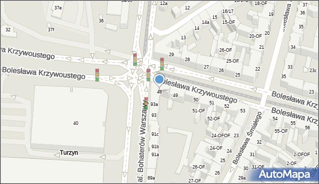 Szczecin, Bolesława Krzywoustego, 48, mapa Szczecina