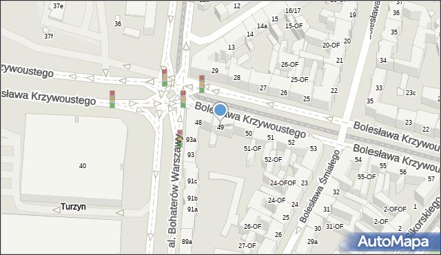 Szczecin, Bolesława Krzywoustego, 49, mapa Szczecina