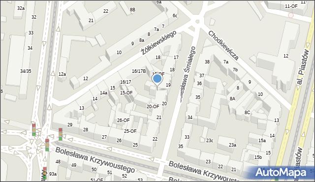 Szczecin, Bolesława Śmiałego, 19-OF, mapa Szczecina