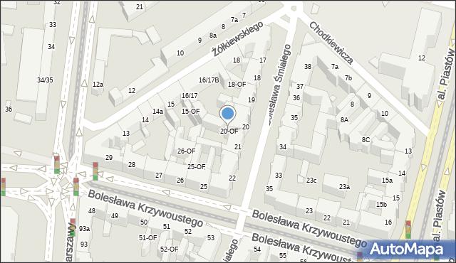 Szczecin, Bolesława Śmiałego, 20-OF, mapa Szczecina