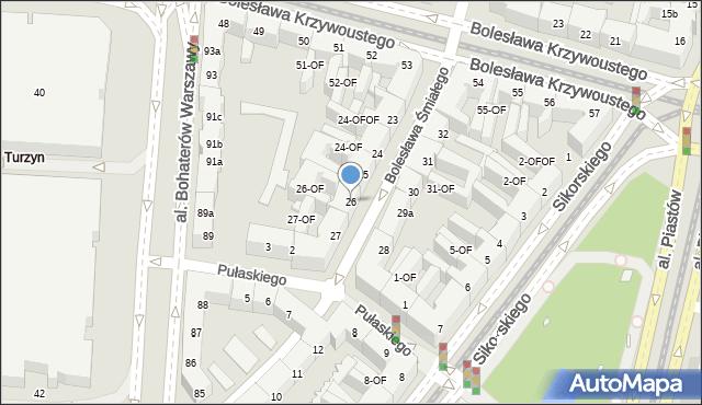 Szczecin, Bolesława Śmiałego, 26, mapa Szczecina