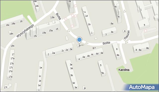 Toruń, Bolta Antoniego, 2f, mapa Torunia
