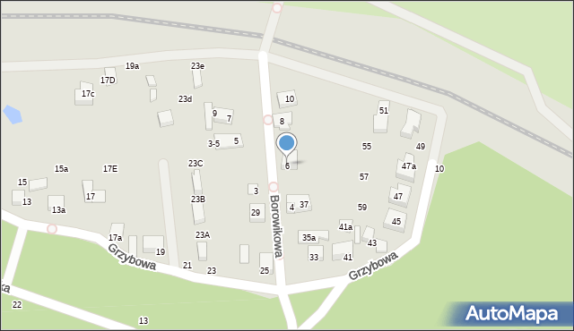 Toruń, Borowikowa, 6, mapa Torunia