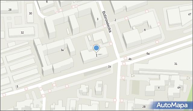 Warszawa, Bobrowiecka, 1, mapa Warszawy