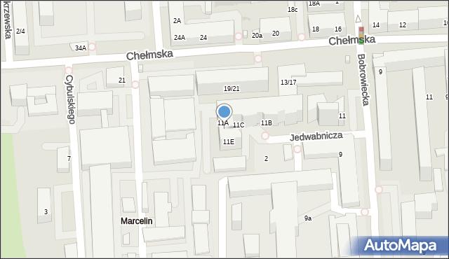 Warszawa, Bobrowiecka, 11D, mapa Warszawy