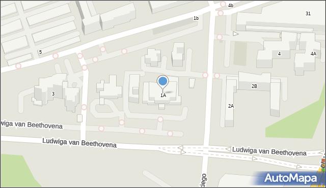 Warszawa, Bobrowiecka, 1A, mapa Warszawy