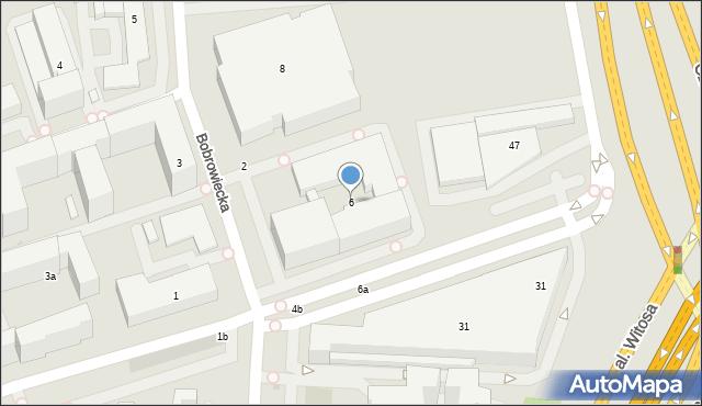 Warszawa, Bobrowiecka, 6, mapa Warszawy