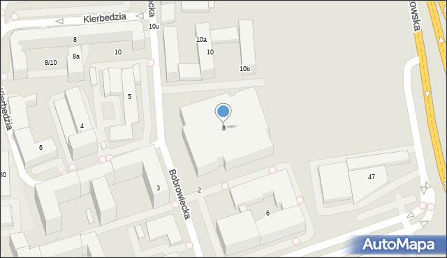 Warszawa, Bobrowiecka, 8, mapa Warszawy