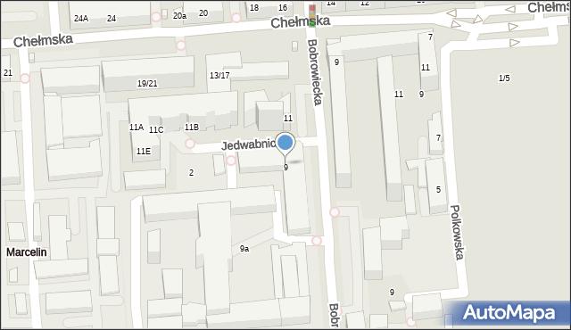 Warszawa, Bobrowiecka, 9, mapa Warszawy