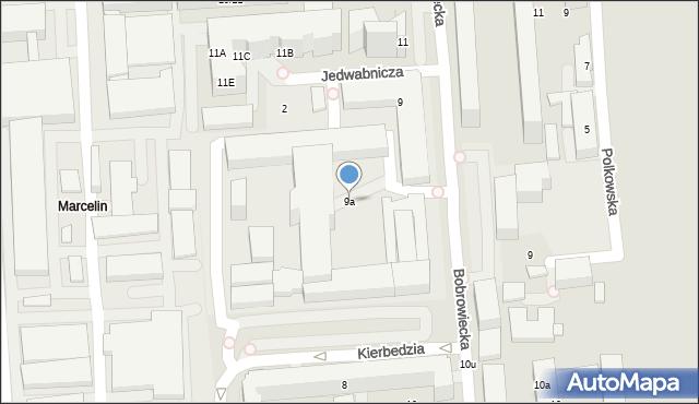 Warszawa, Bobrowiecka, 9a, mapa Warszawy
