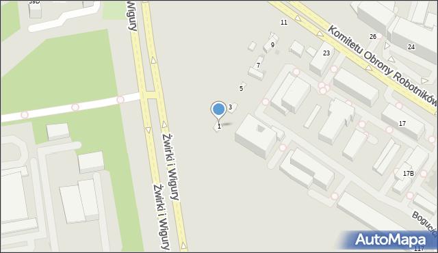 Warszawa, Bogucicka, 1, mapa Warszawy