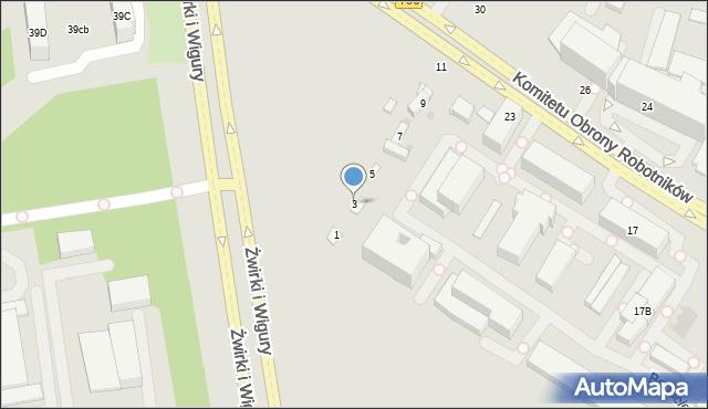 Warszawa, Bogucicka, 3, mapa Warszawy