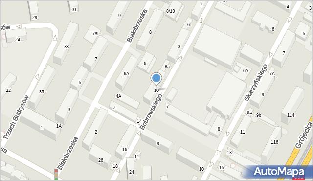 Warszawa, Bobrowskiego Stefana, 10, mapa Warszawy