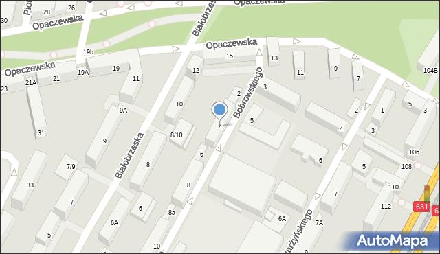 Warszawa, Bobrowskiego Stefana, 4, mapa Warszawy