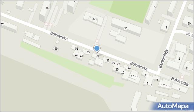 Warszawa, Bokserska, 39, mapa Warszawy